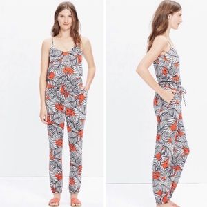 Madewell Bondi Summer Vintage Palm Jumpsuit Large